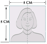 Photo Head Size Template